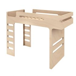 Lit mezzanine Bunk Bed Naturel