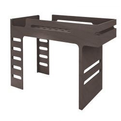Lit mezzanine Bunk Bed Noyer