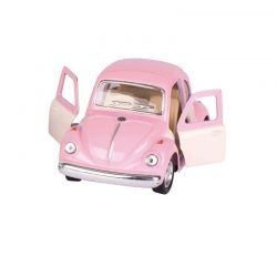Voiture Coccinelle rose