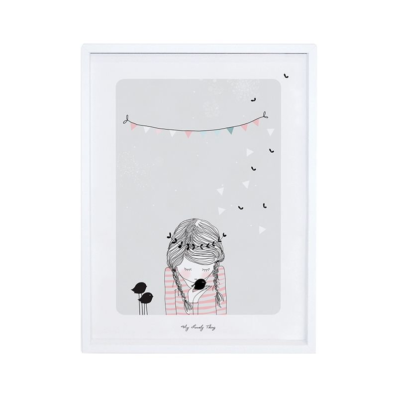 Affiche enfant Design gris clair My Lovely thing Birdy| Design - Enfant