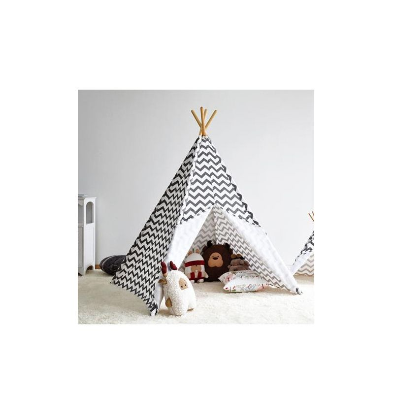 tipi enfant design gris childwood stripe. Black Bedroom Furniture Sets. Home Design Ideas