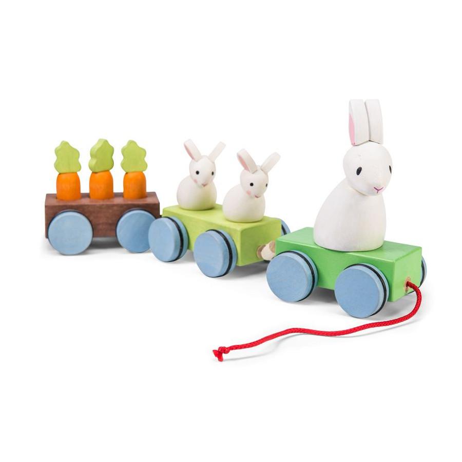 Le petit train de la famille lapin