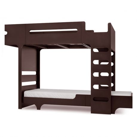 Lit superposé Bunk Bed Teen Noyer