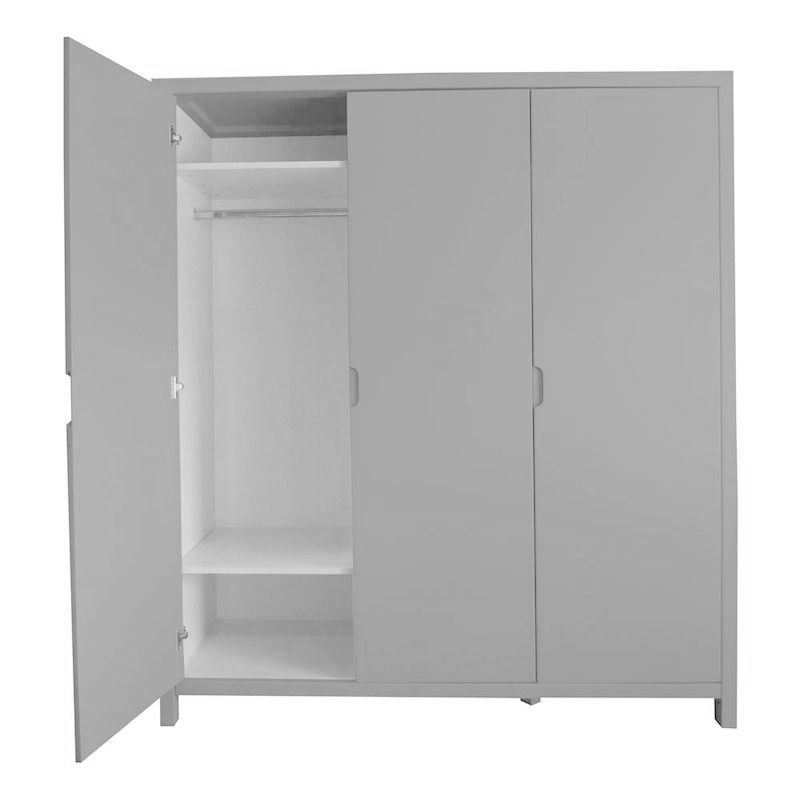 armoire enfant design gris clair quax joy 3p collection design enfant. Black Bedroom Furniture Sets. Home Design Ideas