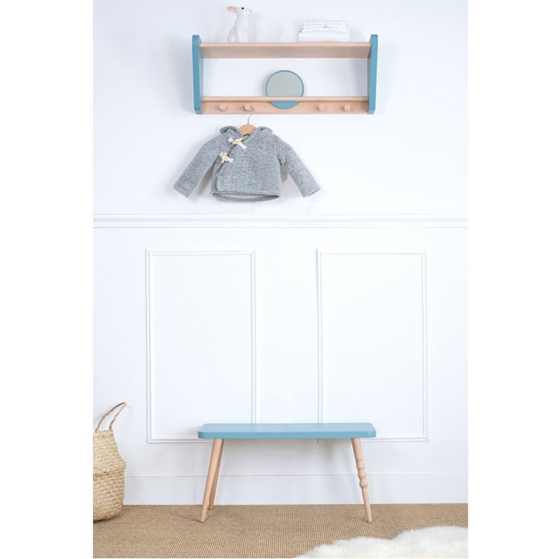 banc enfant design my little ballerine bleu range ta. Black Bedroom Furniture Sets. Home Design Ideas