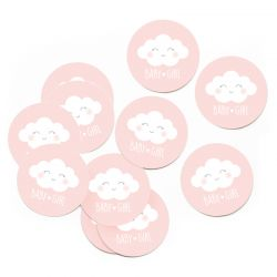 Lot de 10 Stickers nuage rose