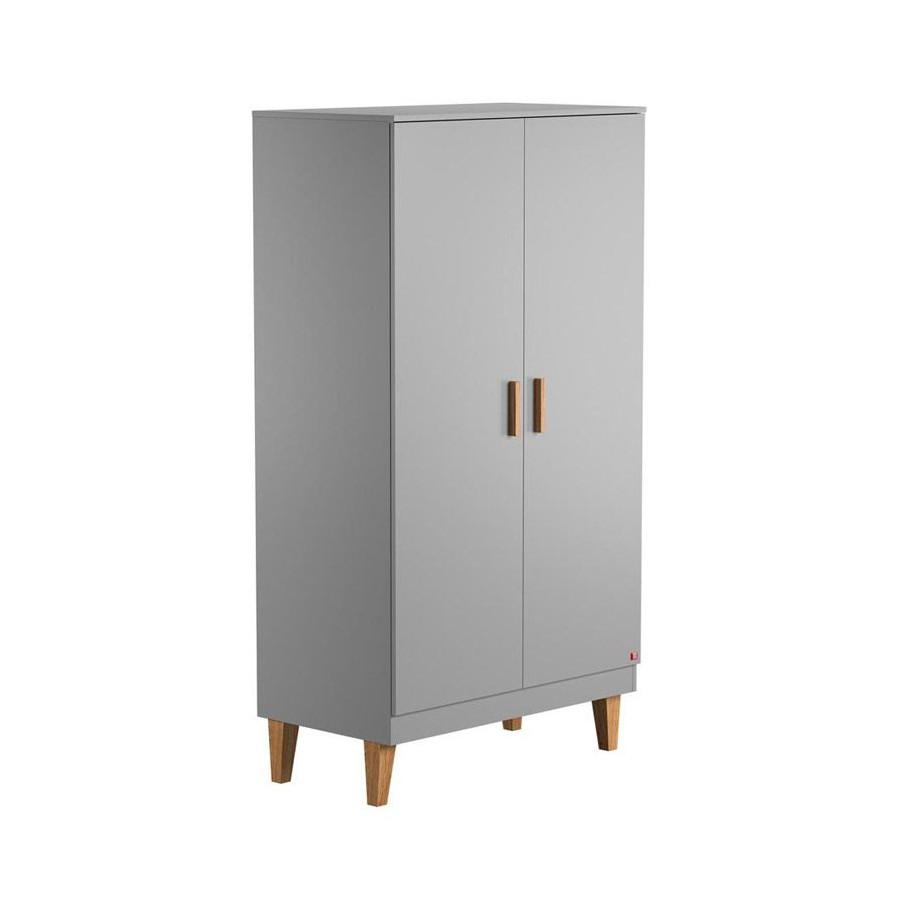 Armoire 2 Portes gris Vox Lounge   Range-Ta-Chambre.com