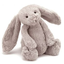 Grand lapin peluche taupe, Couleur: Taupe