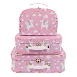 Set de 3 valises Licorne