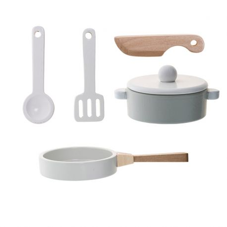 Set instruments de cuisine en bois bloomingville design for Instrument de cuisine