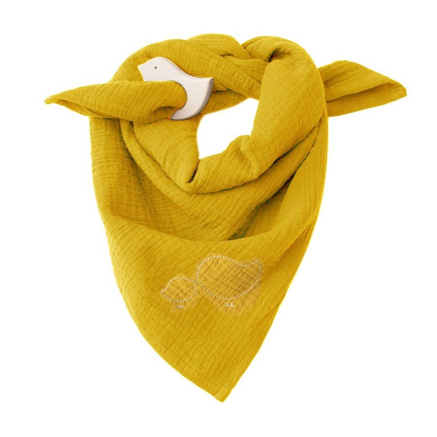 Lange jaune moutarde & Anneau de dentition