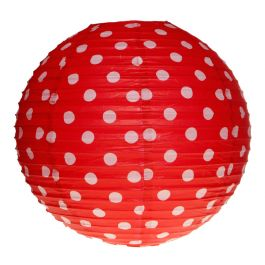 Lampion pois rouge, Couleur: Rouge