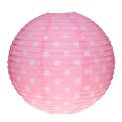 Lampion pois rose
