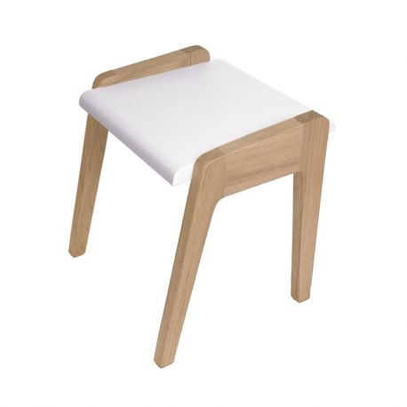 tabouret enfant vintage blanc jungle by jungle ch ne