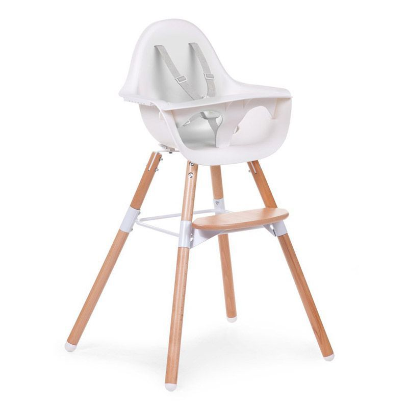 Chaise haute b b design naturel childwood range ta for Chaise haute bebe