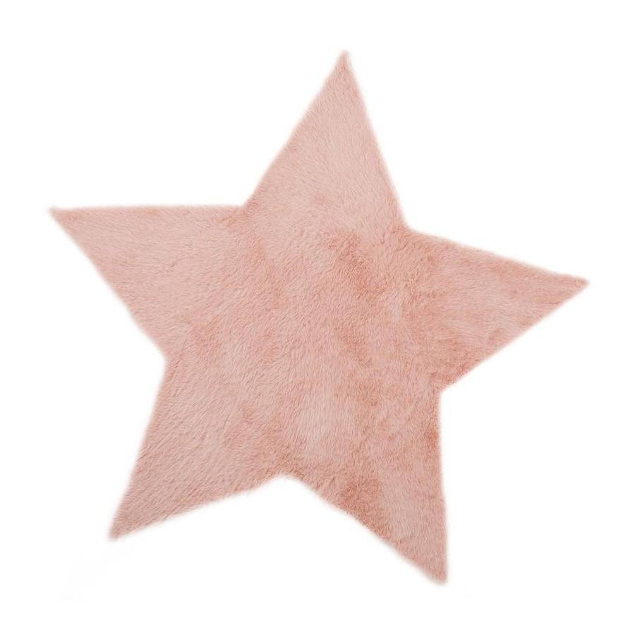 Tapis Étoile rose
