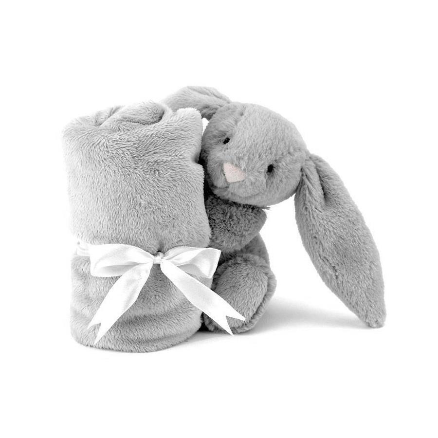 Doudou lapin Velours gris