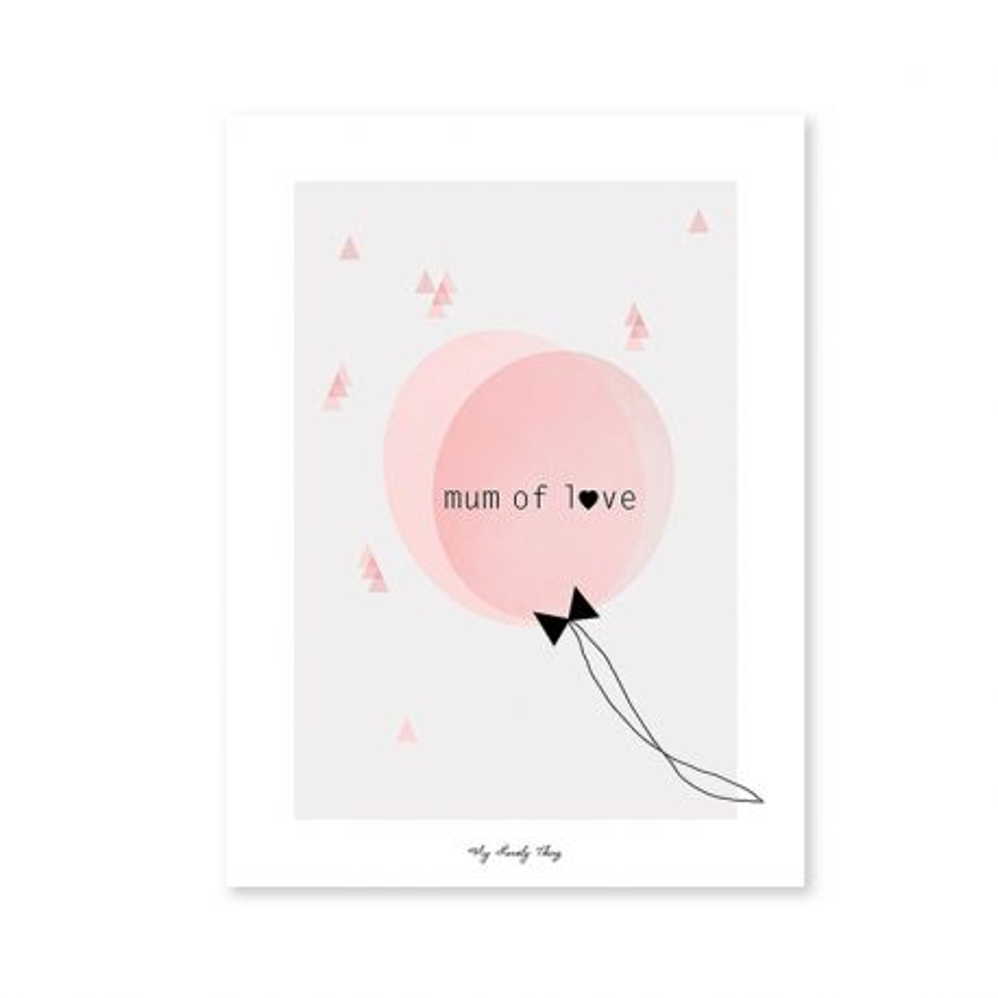 Affiche Ballon rose