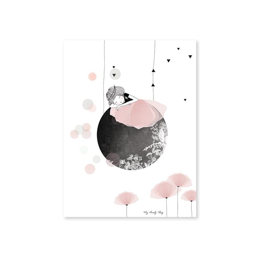 Affiche Coquelicot rose