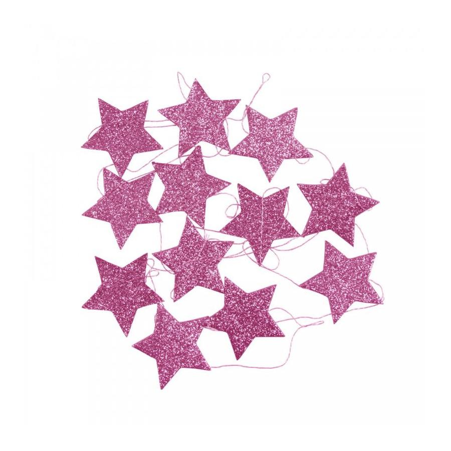 Guirlande Étoile rose
