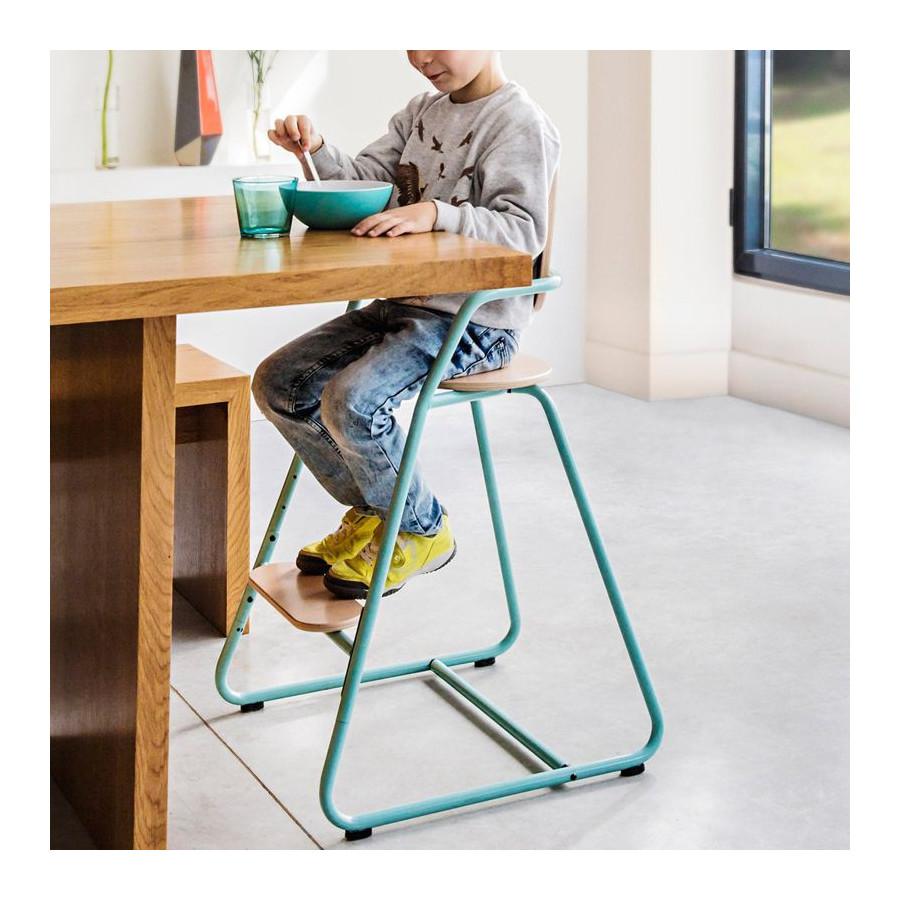 Chaise haute évolutive Tibu bleu