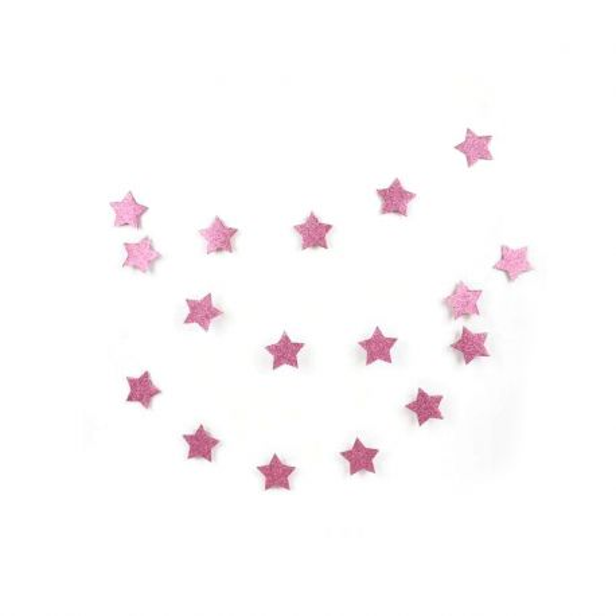 Guirlande étoile glitter rose