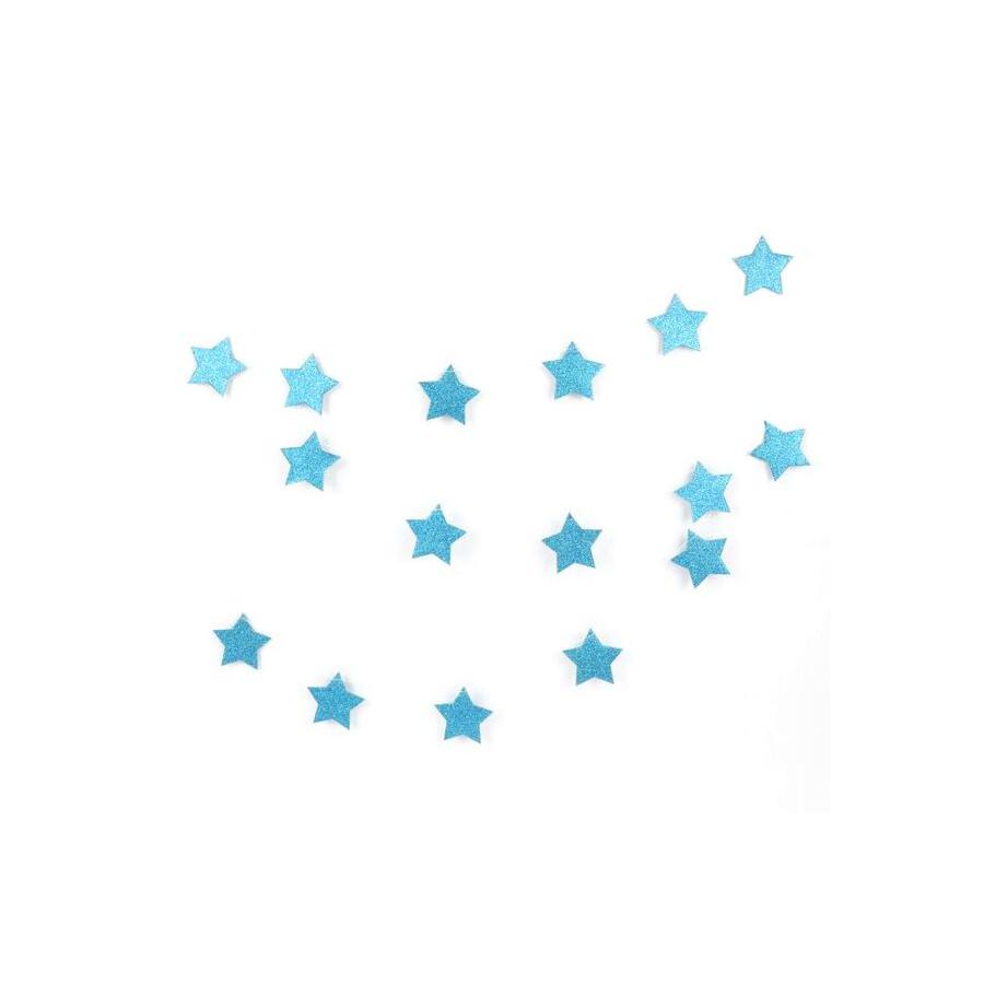 Guirlande étoile glitter bleu