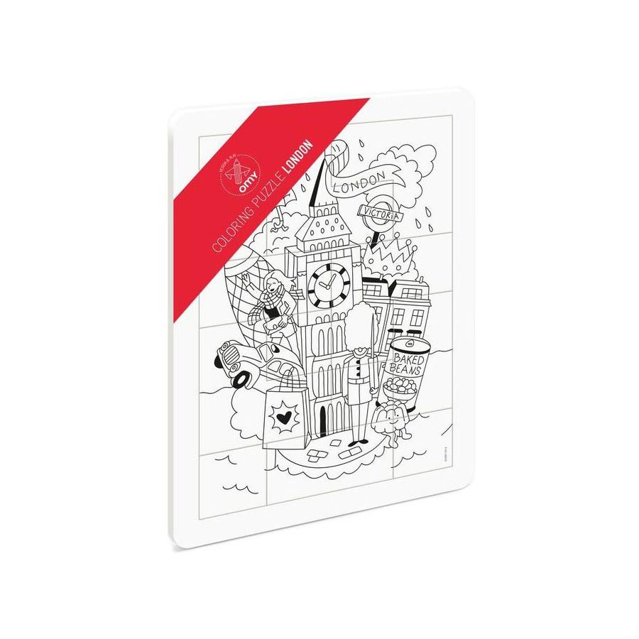 Puzzle à colorier Londres Omy