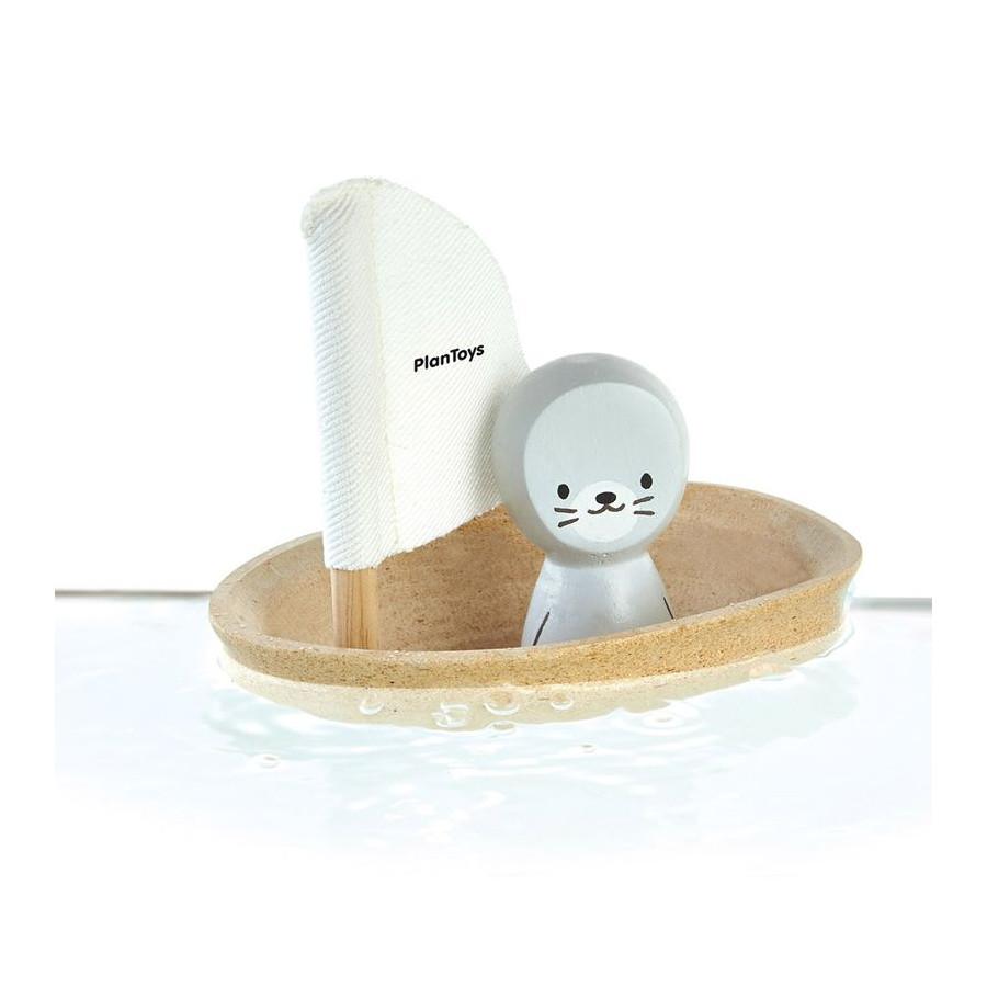 Jouet bain bateau otarie