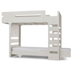 Lit superposé Bunk Bed Teen Blanc cérusé