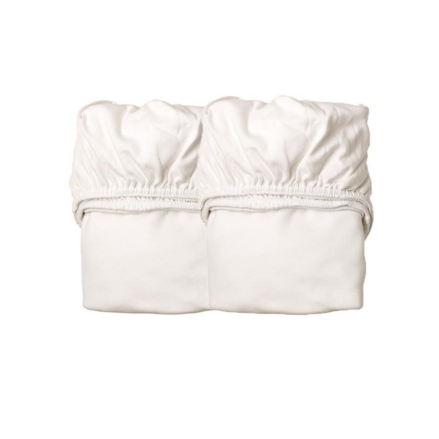 Lot de 2 Drap housse blanc berceau Leander