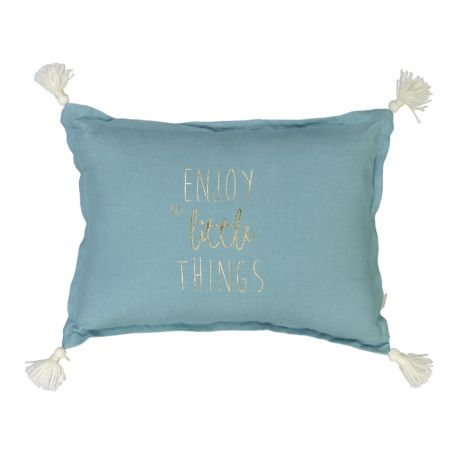 Coussin Enjoy little things celadon