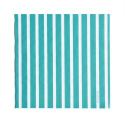 Lot 20 serviettes turquoises