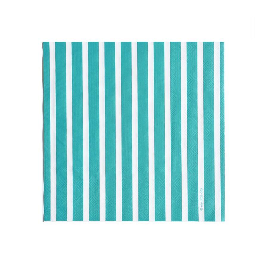 Lot 20 serviettes turquoises
