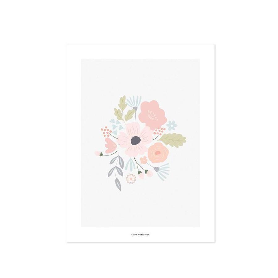 Affiche Bloom pastel