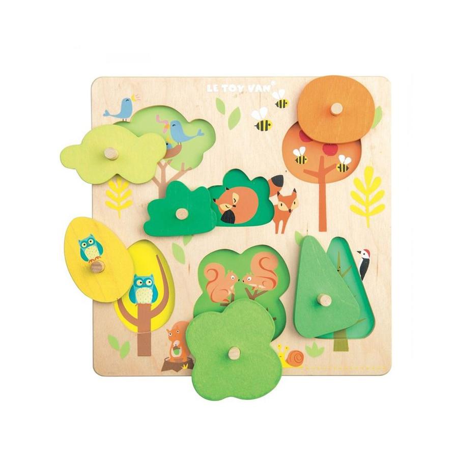 Puzzle Petits arbres en bois