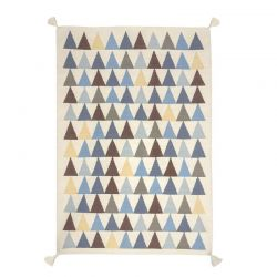 Tapis Kilim Bleu Art for kids