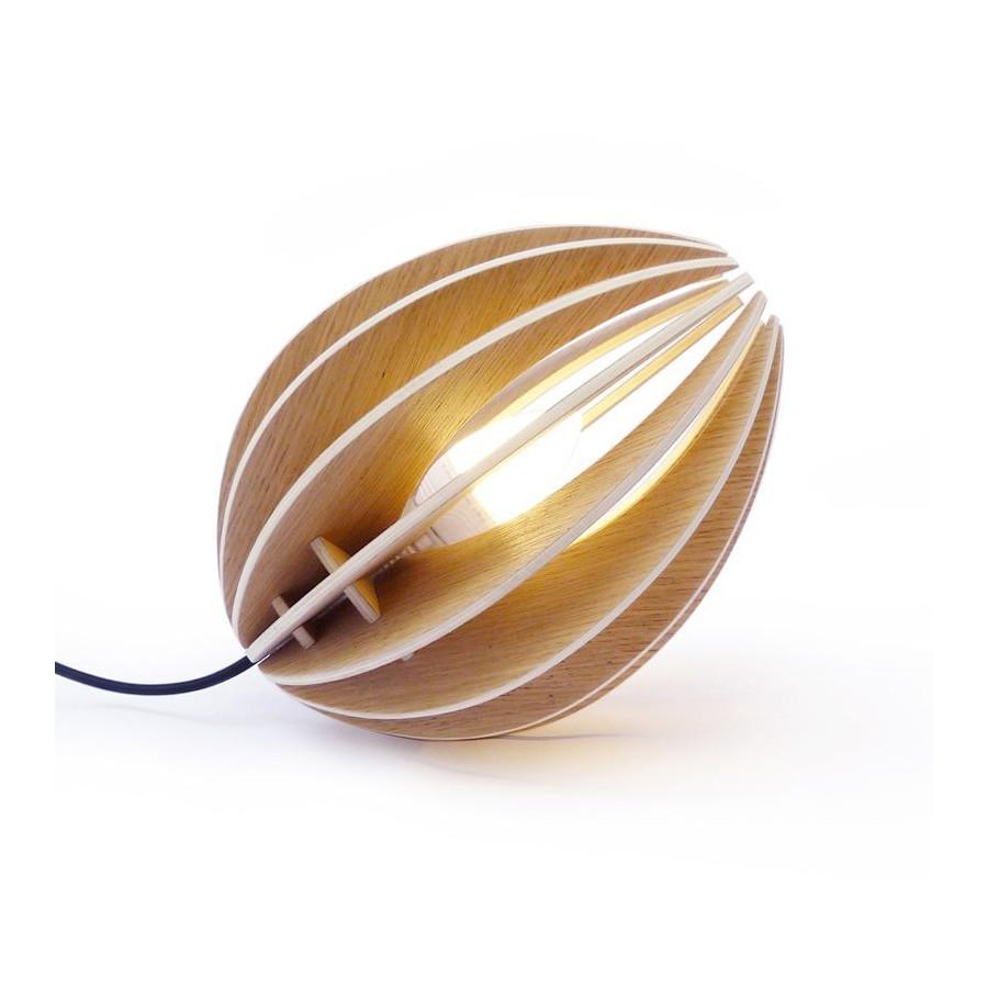 Lampe Fêve bois naturel