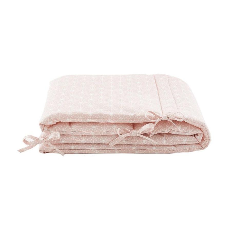 Tour de lit Asanoha rose