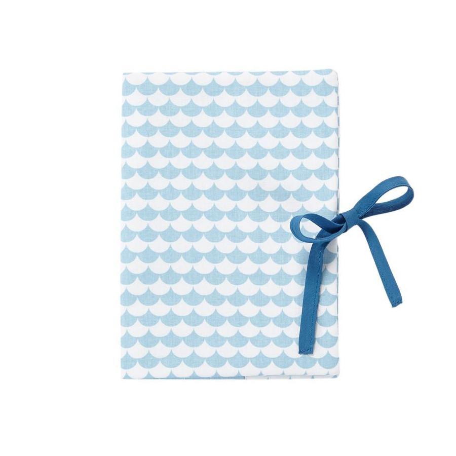 Protège carnet de santé Ecaille bleu