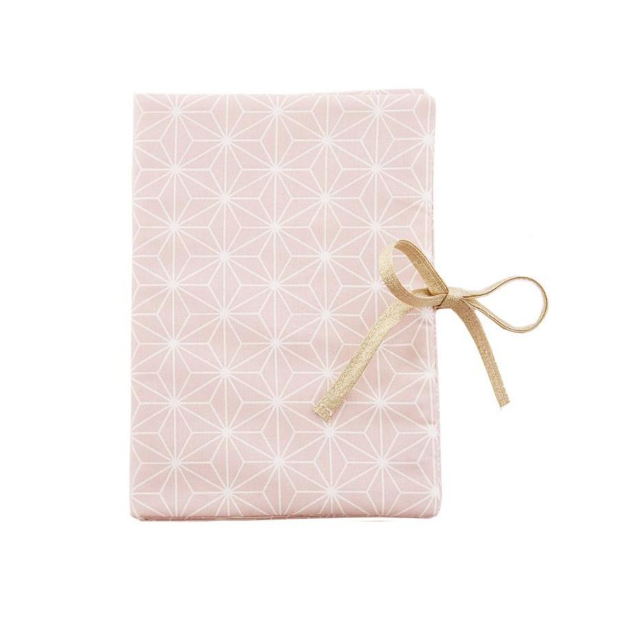 Protège carnet de santé Asanoha rose