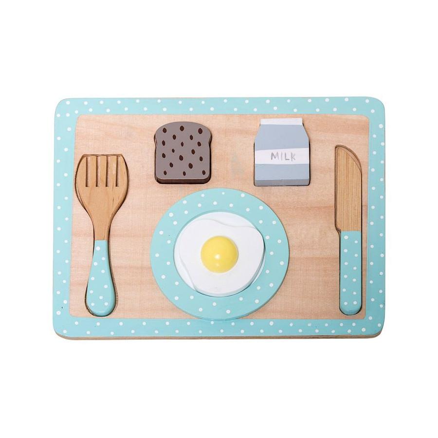 Plateau de petit déjeuner en bois