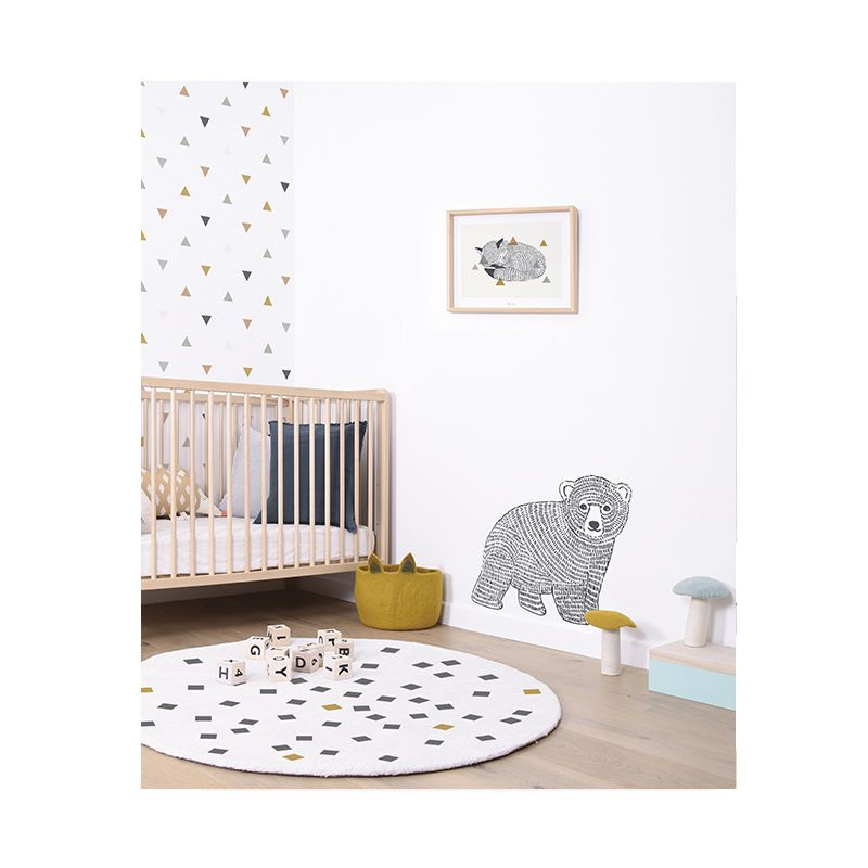 Papier peint enfants Design Motifs triangles gris Lilipinso| Design - Enfant