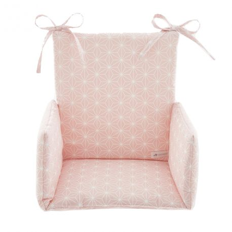 Coussin Chaise haute Asanoha rose