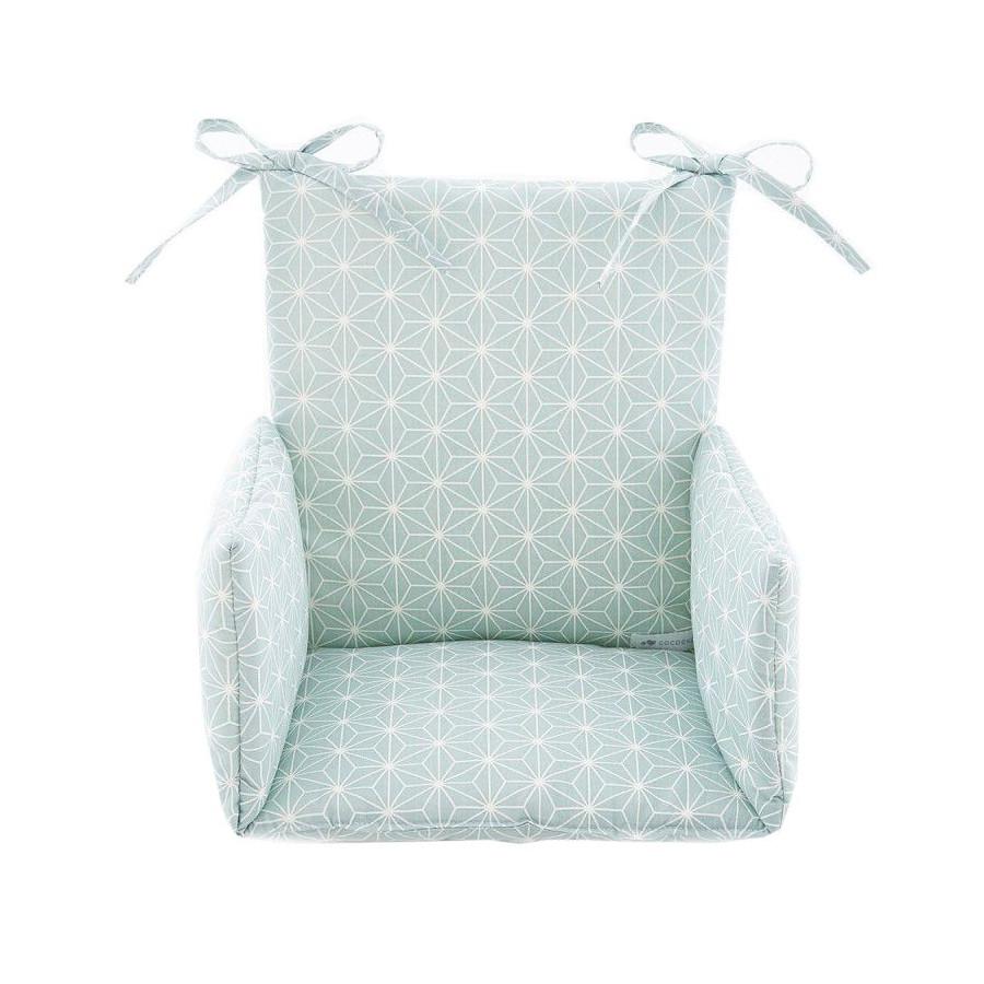 Coussin Chaise haute Asanoha vert