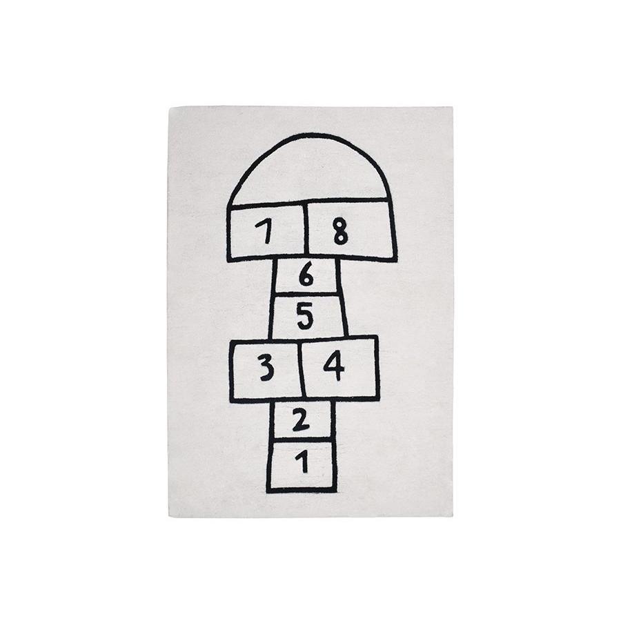 Tapis enfant Design Marelle noir et blanc | Range-Ta-Chambre