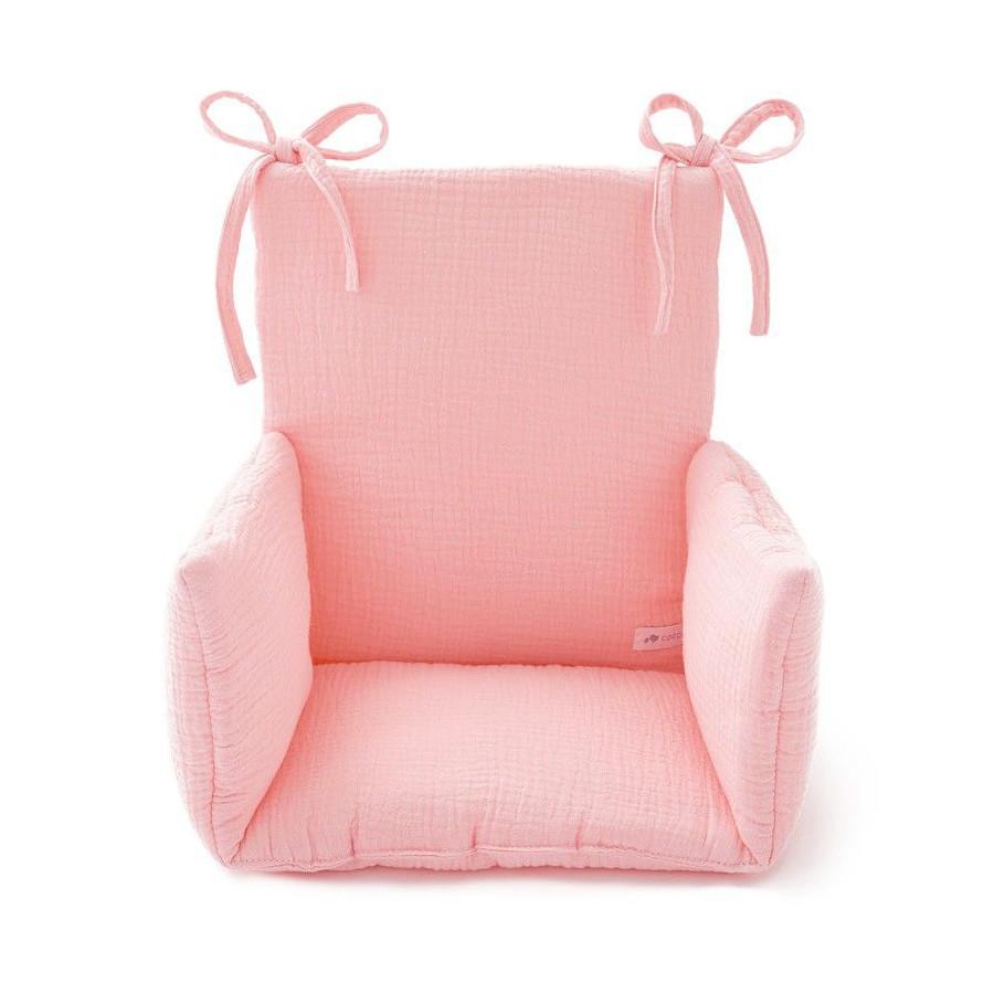 Coussin Chaise haute Gaze Rose blush