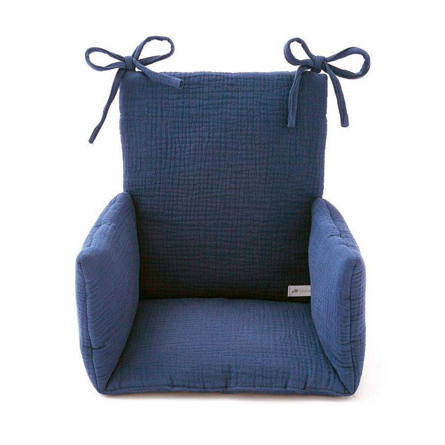 Coussin Chaise haute Gaze marine