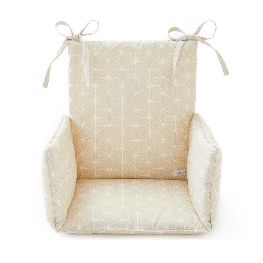 Coussin chaise haute Asanoha beige