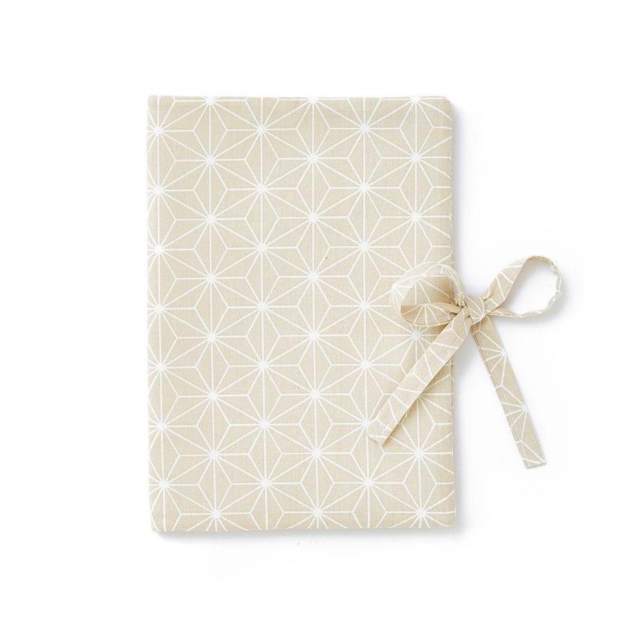 Protège carnet de santé Asanoha beige